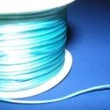 Szatén zsinór - 1 mm (ZS131. minta/1 m) - világoskék, Gyöngy, ékszerkellék, Ékszerkészítés,  Szatén zsinór (ZS131. minta) - világoskék  Kiválóan alkalmas fonási technikákhoz, nyakbavalók felf..., Alkotók boltja