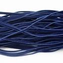 Bőrutánzat zsinór (ZS66/1 db) - sötétkék, Egyéb alapanyag, Bőrművesség,  Bőrutánzat zsinór (ZS66) - sötétkék  Mérete: 3x1 mm/1 m Nyakbavaló alapnak, fonási technikákhoz a..., Alkotók boltja