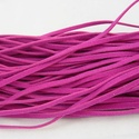 Bőrutánzat zsinór (ZS71/1 db) - pink, Egyéb alapanyag,  Bőrutánzat zsinór (ZS71) - pink  Mérete: 3x1 mm/1 m Nyakbavaló alapnak, fonási technikákhoz..., Alkotók boltja