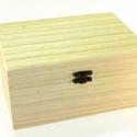 Fadoboz (17,5x12,5x7,25 cm/1 db) - nagy, Fa, Famegmunkálás, Egyéb fa,  Fadoboz - csatos - nagy  Mérete: 17,5x12,5x7,25 cmAnyaga: natúr fa, nem festett, nem pácolt  Többf..., Alkotók boltja