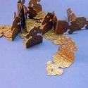 Fémsarok (21. minta/1 db) - 25x17 mm, Csat, karika, zár, Mindenmás,  Fémsarok (21. minta) - antik bronz színben -     Könyvek, albumok, dobozok sarkainak dekorálásáh..., Alkotók boltja