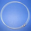 Sodrony nyaklánc alap (13. minta/1 db) - fehér, Gyöngy, ékszerkellék, Ékszerkészítés,  Sodrony nyaklánc alap (13. minta) - fehérSodrony (tigrisbajusz) nyaklánc alap, szerelt, praktikus ..., Alkotók boltja