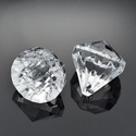 Akril gyöngy-37 (1 db) - átlátszó kristály, Gyöngy, ékszerkellék,    Akril gyöngy-37 - kristály forma - átlátszó   Mérete: 26x235 mmFurat mérete: 3 mm  Az ár ..., Alkotók boltja