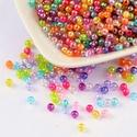 Akril gyöngy-67 (200 db/csomag) - irizáló gömb mix, Gyöngy, ékszerkellék, Ékszerkészítés, Gyöngy,     Akril gyöngy-67 - gömbök - vegyes színekben - irizáló - áttetsző  Mérete: ~ 4 mmFurat mérete: ~..., Alkotók boltja
