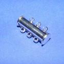 Mágneses csőkapocs (331. minta/1 db) -  3 soros, Gyöngy, ékszerkellék, Ékszerkészítés,  Mágneses csőkapocs (331. minta) - 3 soros - nikkel színben  Mérete: 20 mm  Az ár 1 darab termékre ..., Alkotók boltja