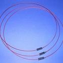 Sodrony nyaklánc alap (8. minta/1 db) - vörös, Gyöngy, ékszerkellék,  Sodrony nyaklánc alap (8. minta) - vörösSodrony (tigrisbajusz) nyaklánc alap, szerelt, praktiku..., Alkotók boltja