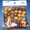 Festett fagyöngy-82 (Ø 15 mm/40 g) - barna/világosbarna mix, Gyöngy, ékszerkellék, Gyöngy,  Festett fagyöngy-82 - barna/világosbarna mix  Mérete: Ø 15 mmFurat: 4 mm  Kiszerelés: 40 gA csomag..., Alkotók boltja