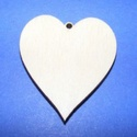 Fa alap (113. minta/1 db) - akasztós szív , Fa, Egyéb fa,  Fa alap (113. minta) - akasztós szív     Mérete: 4,5x5,5 cmAnyaga: rétegelt lemezAnyagvastagság:..., Alkotók boltja
