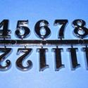 Arab számsor (115. minta/antik ezüst) - 20 mm, Órakészítés, Számok, betűk, Mindenmás,   Számsor (115. minta) - antik ezüst - arab számokkal    Mérete: 20 mm    A számsort ragasztóva..., Alkotók boltja