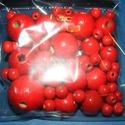 Festett fagolyó-1 (vegyes méret/75 db) - piros, Gyöngy, ékszerkellék, Gyöngy,  Festett fagolyó-1 - piros  A csomag tartalma:Ø 8 mm - 60 dbØ15 mm - 6 db                          ..., Alkotók boltja