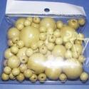 Festett fagolyó-4 (vegyes méret/75 db) - natúr, Gyöngy, ékszerkellék, Gyöngy,  Festett fagolyó-4 - natúr - lakkozott  A csomag tartalma:Ø 8 mm - 60 dbØ15 mm - 6 db              ..., Alkotók boltja