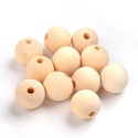 Natúr fagolyó (Ø 18 mm/1 db), Gyöngy, ékszerkellék, Alkotók boltja