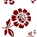 Sablon - S11 (14,5x20 cm/1 db) - virágok, Szerszámok, eszközök,  Sablon - S11 - virágok    Rugalmas, műanyag sablon festékhez és struktúrpasztához.Közvetle..., Alkotók boltja