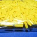 Szalmagyöngy-28 (2x6 mm/15 g) - matt sárga, Gyöngy, ékszerkellék,  Szalmagyöngy-28 - fényes felületű, matt színű - sárga - távol-keleti szalmagyöngy  Anyaga:..., Alkotók boltja