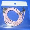 Bőrutánzat nyaklánc alap (12. minta/1 db) - világos rózsaszín, Gyöngy, ékszerkellék,  Bőrutánzat nyaklánc alap (12. minta) - világos rózsaszínA szerelékek nikkel színűek.A nyak..., Alkotók boltja