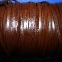 Lapos bőrszíj - 3x1,5 mm (4. minta/1 m) - sötétbarna, Egyéb alapanyag, Bőrművesség,  Lapos bőrszíj (4. minta) - szögletes - tekercses - sötétbarna  Mérete: 3x1,5 mm átmérőjű  Valódi h..., Alkotók boltja