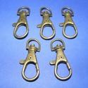 Karabiner (467. minta/1 db) - 35 mm , Csat, karika, zár, Mindenmás,  Karabiner (467. minta) - bronz színben  Alkalmas kulcstartó, póráz stb. készítéséhez. Mérete: 35 ..., Alkotók boltja