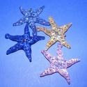 Szélcsengő tartozék (1 db) - akril tengeri csillag - halványkék, Vegyes alapanyag,  Szélcsengő tartozék - akril tengeri csillag - halványkék    Mérete: 6,5 cm  Az ár egy dara..., Alkotók boltja