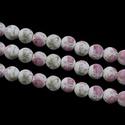 Porcelángyöngy-3 (Ø 12 mm/5 db), Gyöngy, ékszerkellék, Gyöngy,  Porcelángyöngy-3 - rózsaszín-fehér virág mintával  Mérete: Ø 12 mmFurat: 3 mm  A csomag tartalma: ..., Alkotók boltja