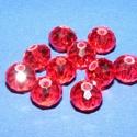 Csiszolt üveggyöngy-5 (6x8 mm/10 db) - piros, Gyöngy, ékszerkellék,  Csiszolt üveggyöngy-5 - piros  Mérete: 6x8 mmFurat: 1 mm  Kiszerelés: 10 db/csomag Az ár egy c..., Alkotók boltja
