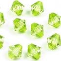 Csiszolt üveggyöngy-42 (4x5 mm/10 db) - zöldessárga gyémánt, Gyöngy, ékszerkellék,  Csiszolt üveggyöngy-42 - zöldessárga gyémánt  Mérete: 4x5 mmFurat: 1 mm  Kiszerelés: 10 db/..., Alkotók boltja