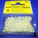 Műanyag gyöngy-31 (Ø 4 mm/120 db) - krém gömb, Gyöngy, ékszerkellék,  Műanyag gyöngy-31 - krém színű gömb - gyöngyház fényű  Mérete: Ø 4 mmFurat: 1 mm  A cso..., Alkotók boltja