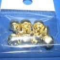 Arany csörgő (1. minta/10 db) - 10 mm, Vegyes alapanyag, Mindenmás,  Arany csörgő (1. minta) - arany színben  Mérete: 10 mm  Az ár 10 darab termékre vonatkozik.  , Alkotók boltja