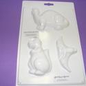 Állat-26 - gipszöntő forma (3 motívum) - dínók, Szerszámok, eszközök, Egyéb szerszám, eszköz, Gipszöntés,         Állat-26 - gipszöntő forma - dínók  - sablon: 18x29 cm- minta: 5-11 cm Az ár egy darab term..., Alkotók boltja