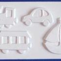 Egyéb-24 - gipszöntő forma (4 motívum) - járművek, Szerszámok, eszközök, Egyéb szerszám, eszköz, Gipszöntés,        Egyéb-24 - gipszöntő forma - járművek  - sablon: 15,5x24,5 cm- minta: 4-9x8 cm Az ár egy dar..., Alkotók boltja
