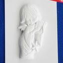 Vallás-18 - gipszöntő forma (1 motívum) - angyal hárfával, Szerszámok, eszközök, Egyéb szerszám, eszköz, Gipszöntés,       Vallás-18 - gipszöntő forma - angyal hárfával  Mérete: - sablon: 15x20 cm- minta: 16x8,5 cm ..., Alkotók boltja