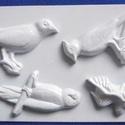 Állat-33 - gipszöntő forma (4 motívum) - madarak, Szerszámok, eszközök, Egyéb szerszám, eszköz, Gipszöntés,         Állat-33 - gipszöntő forma - madarak  - sablon: 18x29 cm- minta: 8-12 cm Az ár egy darab te..., Alkotók boltja