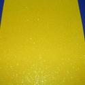 Glitteres dekorgumi (A/4 méret/1 db) - citromsárga, Vegyes alapanyag,  Dekorgumi - glitteres - citromsárga - A/4 méret  Az egyik legnépszerűbb és legolcsóbb alapanyag, so..., Alkotók boltja