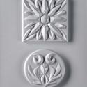 Egyéb-42 - gipszöntő forma (2 motívum) - díszek, Szerszámok, eszközök, Egyéb szerszám, eszköz, Gipszöntés,         Egyéb-42 - gipszöntő forma - díszek (kerek, négyzet)  - sablon: 20x25 cm- minta: 10x10 cm; ..., Alkotók boltja