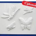 Állat-29 - gipszöntő forma (4 motívum) - pillangók, Szerszámok, eszközök, Egyéb szerszám, eszköz, Gipszöntés,         Állat-29 - gipszöntő forma - pillangók  - sablon: 18x29 cm- minta: 7-13 cm Az ár egy darab ..., Alkotók boltja