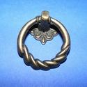 Fém fogantyú-8 (1 db) - antik bronz, Csat, karika, zár, Alkotók boltja