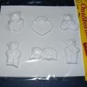 Állat-4 - gipszöntő forma (6 motívum) - mackók, Szerszámok, eszközök, Egyéb szerszám, eszköz, Gipszöntés,         Állat-4 - gipszöntő forma - mackók  - sablon: 17,5x20 cm- minta: 3-5x5,5-6 cm Az ár egy dar..., Alkotók boltja