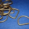 """""""D"""" karika (479/A minta/1 db) - 20 mm, Csat, karika, zár, Mindenmás,  """"D"""" karika (479/A minta) - antik bronz színben  Belső méret: 20x18 mmKülső méret: 25x20 mm  Az ár ..., Alkotók boltja"""