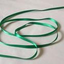 Szaténszalag (110. minta/1 m) - zöld, Textil, Varrás,  Szaténszalag (110. minta) - zöld  A szaténszalag selyem vagy szintetikus alapanyagból készülő, kül..., Alkotók boltja