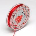 Gumis damil (Ø 0,6 mm/~ 10 m) - piros, Gyöngy, ékszerkellék,  Gumis damil - pirosKiváló minőségű, rugalmas, fűzésre alkalmas damil.Mérete: Ø 0,6 mmA tekercsen kb..., Alkotók boltja