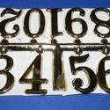 Arab számsor (103. minta/arany) - 30 mm, Órakészítés, Számok, betűk, Mindenmás,  Számsor (103. minta) - arany - arab számok - öntapadós  Mérete: 30 mm Az ár egy készletre vonatkoz..., Alkotók boltja