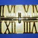 Római számsor (105. minta/arany) - 30 mm, Órakészítés, Számok, betűk, Mindenmás,  Számsor (105. minta) - arany - római számok - öntapadós  Mérete: 30 mm Az ár egy készletre vonatko..., Alkotók boltja