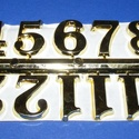 Arab számsor (104. minta/arany) - 20 mm, Órakészítés, Számok, betűk,  Számsor (104. minta) - arany - arab számok - öntapadós  Mérete: 20 mm Az ár egy készletre vo..., Alkotók boltja