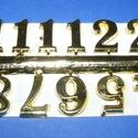 Arab számsor (101. minta/arany) - 15 mm, Órakészítés, Számok, betűk, Mindenmás,  Számsor (101. minta) - arany - arab számok - öntapadós  Mérete: 15 mm Az ár egy készletre vonatkoz..., Alkotók boltja
