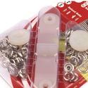 Fém patentozó készlet-3 (Ø 9,7 mm/1 készlet), Gomb,  Fém patentozó készlet-3 - nikel színben - kétrsézes0,5-1 mm vastagságú anyagokhoz használh..., Alkotók boltja