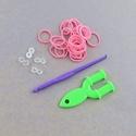 Gumigyűrű-31 (~260 db/csomag) - korall, Vegyes alapanyag,  Gumigyűrű-31 - korall   Karkötő készítésére alkalmas készlet, mely a következő termékek..., Alkotók boltja