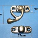 Doboz csat (3. minta/1 db) - bronz, Csat, karika, zár, Mindenmás,  Doboz csat (3. minta) - bronz színben  Mérete: 28x9 mm (alsó rész); 28x33 mm (füles rész) Az ár eg..., Alkotók boltja