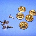 Kitűző alap (411/A minta/1 db) - tiszti patent, Gyöngy, ékszerkellék,  Kitűző alap (411/A minta) - tiszti patent - ragasztható - réz színben  A pillangó tárcsa mé..., Alkotók boltja