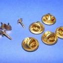 Kitűző alap (411/A minta/1 db) - tiszti patent, Gyöngy, ékszerkellék, Alkotók boltja