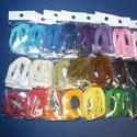 Viaszos szál-15 (5 db/csomag) - sötétkék, Gyöngy, ékszerkellék, Alkotók boltja