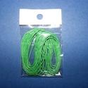 Viaszos szál-16 (5 db/csomag) - zöld, Gyöngy, ékszerkellék, Ékszerkészítés,  Viaszos szál-16 - zöld  Színes, viaszos zsinór Mérete (1 db): 1 mm vastag/80 cm hosszú  Nyakbaval..., Alkotók boltja